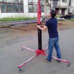 Подъемник серии ТС . Подъем груза до 150 кг. Выпускаем высотой от 3,5 до 5,5 м. На фото  5.5 м.